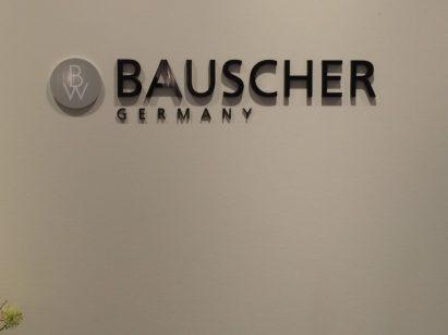 Logo der Firma Bauscher Germany in der Zentrale